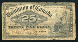CANADA 1900 25c BANKNOTE - Kanada