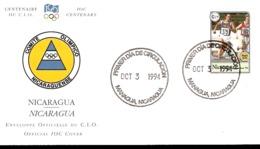 Comite Olimpico Nicaraguense Busta FDC - Giochi Olimpici