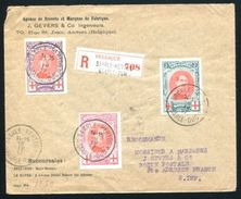 BELGIUM RED CROSS KING ALBERT REGISTERED - Belgium