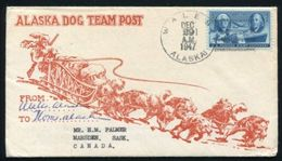 ALASKA DOG POST WALES 1947 - Event Covers