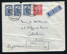 PORTUGAL TO BRITAIN AIRMAIL RARE CACHET 1937 - Portugal