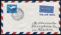 GERMANY LUFTHANSA FLIGHT COVER HAMBURG TO MUNICH - Germany
