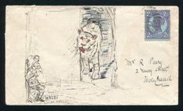 QUEENSLAND TO WALES QV PICTORIAL ENVELOPE - 1860-1909 Queensland