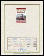 TUVALU RAILWAYS U.S.A. CLASS S LOCOMOTIVE PROGRESSIVE PROOF 1985 - Tuvalu