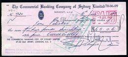 AUSTRALIA GB EGYPT CHEQUE 1969 - Egypt