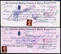 AUSTRALIA/GB/SINGAPORE CHEQUES 1968/69 - Singapore (...-1959)