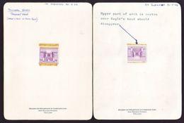ADEN YEMEN DIE PROOFS BRADBURY WILKINSON 1968 EAGLE PASSPORT STAMP - Yemen