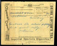 INDIA/KGV/STATIONERY/IMPERIAL CIGARETTES/TEA/TOBACCO - India (...-1947)