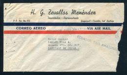 ECUADOR AIRMAIL 1945 AMAZONICO CACHET TO CHILE - Ecuador