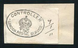 GB RAILWAYS TRAVELLING POST OFFICES LONDON 1911 SPECIMEN STRIKE - Great Britain