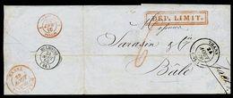 FRANCE/SWITZERLAND 1850 BORDER MARKS - Europe (Other)