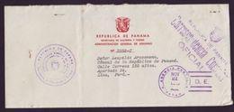 PANAMA OFFICIAL MAIL TO PERU 1940 - Panama