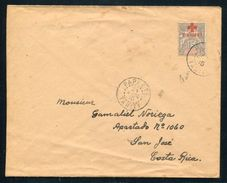 TAHITI FRENCH POLYNESIA RED CROSS OVERPRINT COVER 1915 - Europe (Other)