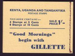 KUT GEORGE VI BOOKLET DHOWS - Kenya, Uganda & Tanganyika