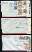 CANADA BATAWA SHOES AIR CENSORED COVERS TO CHILE WORLD WAR II - Commemorative Covers