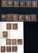 GB LINE ENGRAVED 1841 1d RED-BROWN SELECTION - 1840-1901 (Victoria)