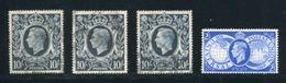 GB KING GEORGE 6TH 10 SHILLING VARIETIES - 1902-1951 (Kings)