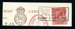GB HAMBURG PAQUEBOT 1923 SHIPPING - Great Britain