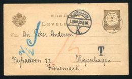 HUNGARY POSTAL STATIONERY BAKOCZA TEA 1896 - Hungary
