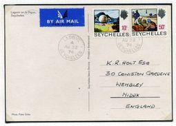 SEYCHELLES OUTER ISLAND POSTMARKS QE2 - Seychelles (...-1976)
