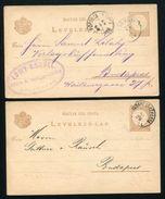 HUNGARY POSTAL STATIONERY CARDS ZOLYOM & BUDAPEST - Hungary