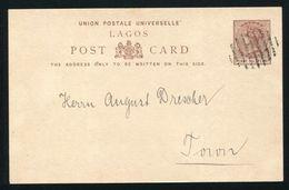 NIGERIA LAGOS  POSTAL STATIONERY QUEEN VICTORIA 1879 - Nigeria (1961-...)