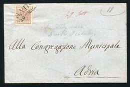 AUSTRIAN ITALY LOMBARDO VENETIA 1850 SAN VITO ADRIA COVER ADRIATIC SEA - Italy