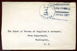 CHINA CANTON US NAVY 1931 - Postal History