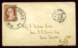 USA 1856 PHILADELPHIA CITY POST BLOOD'S DESPATCH - Postal History