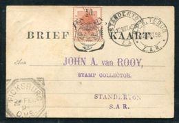 ORANGE FREE STATE POSTAL STATIONERY TRANSVAAL RAILWAYS - South Africa (...-1961)