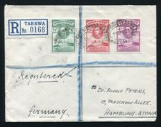 GOLD COAST KING GEORGE 6TH REGISTERED TO GERMANY - Gold Coast (...-1957)