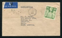 GB GEORGE 6TH HIGH VALUE AIRMAIL CHILE - 1902-1951 (Kings)