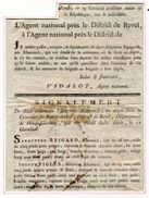 FRANCE 1795 REVEL TO BEZIERS ARMY DESERTERS SPAIN GERMANY - Europe (Other)