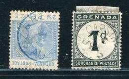 GRENADA QV CARRIACOU POSTMARK + POSTAGE DUE - Grenada (...-1974)