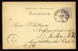 SCHLESWIG GERMANY STATIONERY 1885 - Germany