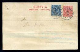 SCHLESWIG GERMANY DENMARK 1920 STATIONERY UNUSUAL POSTMARK - Germany