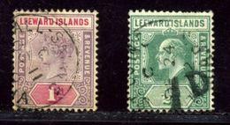 LEEWARD ISLANDS ANTIGUA POSTMARKS QV KE7 - Leeward  Islands