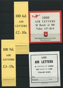 GREAT BRITAIN STATIONERY AIR LETTERS McCORQUODALE 1965 - Postmark Collection