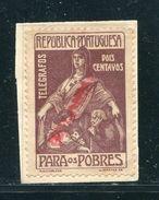 PORTUGAL TELEGRAPH CHARITY STAMP POOR SPECIMEN 1920 - Portugal