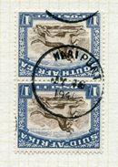 SOUTH AFRICA SKELETON POSTMARK WILDEBEEST PAIR VERY RARE CAPE POSTMARK - South Africa (...-1961)