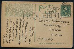 USA MARITIME RARE PAQUEBOT PANAMA CANAL BALBOA 1922 - United States
