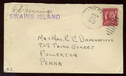 PAGO PAGO TOKEN SWAINS ISLAND  US PACIFIC COVER RARE! - New Zealand
