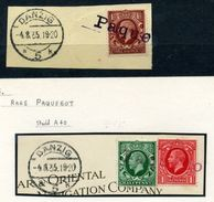 DANZIG MARITIME RARE PAQUEBOT 1935 ON GB STAMPS - Germany