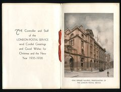GREAT BRITAIN LONDON POST OFFICE ST PAULS CHRISTMAS CARD 1935 - Unclassified
