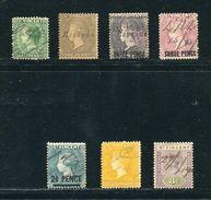 ST. VINCENT KING EDWARD 7TH PEN CANCELS 1903-1906 - St.Vincent & Grenadines