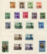 EGYPT FAROUK OVERPRINTS 1952 KING OF EGYPT AND AIRMAILS - Egypt