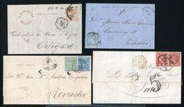 SPAIN COVERS 1861 ONWARDS PARIS - Spain
