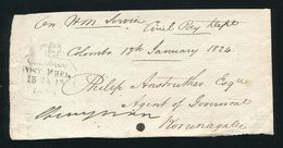 CEYLON FREE FRANK OFFICIAL 1824 CROWN - Ceylon (...-1947)
