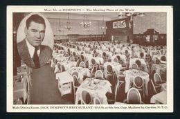 USA-JACK DEMPSEY AUTOGRAPHED POSTCARD - Unclassified