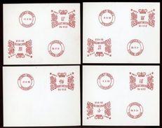 GB QE11 PITNEY BOWES METER MARKS SPECIMENS - 1952-.... (Elizabeth II)